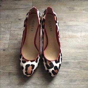 Leopard print Guess heels